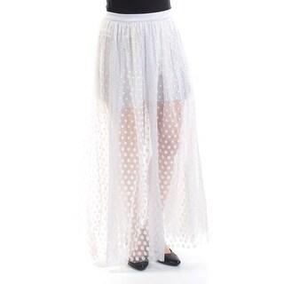 Womens Gray Polka Dot Maxi Peasant Skirt Size 6