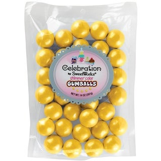 Celebrations By SweetWorks Gumballs 14oz-Shimmer (TM) Yellow