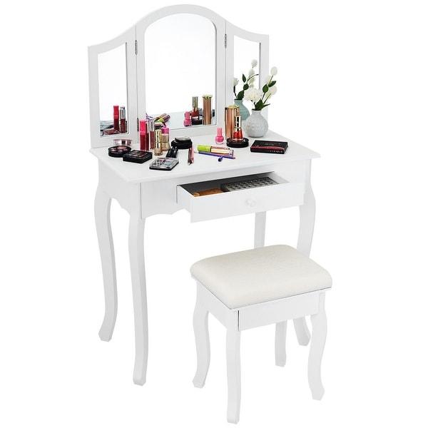 Home Decor Items Xl Large 3 Way Folding Vanity Makeup Dressing Table Top Standing Tri Fold Mirror Home Furniture Diy Ot Baieducotentin Fr