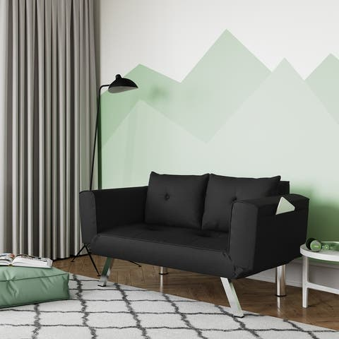 Serta® Michigan Convertible Sofa with Adjustable Winged Arms