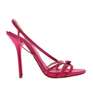 Dolce & Gabbana Pink Silk Blend Sandals High Heel Shoes - 39