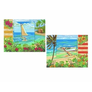 Plaid Creates Paint By Number Studio Series Kit 11 by 14-Inch, 21724 Plantation Key Set of 2.