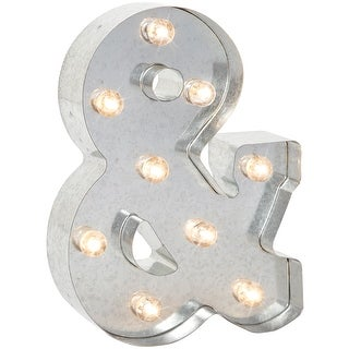 """Silver Metal Marquee Symbol 9.875""""-& (Ampersand)"""
