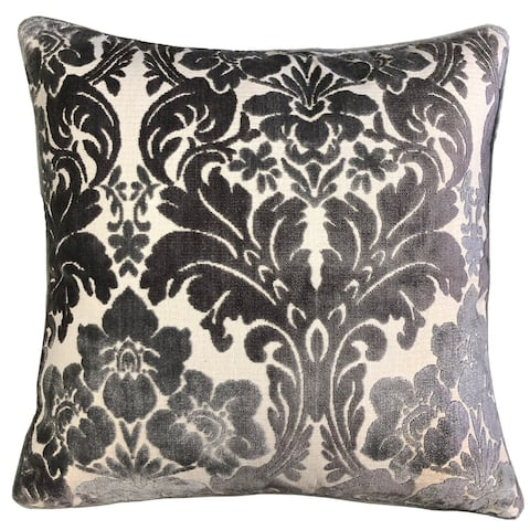 Rodeo Home Marsel Cut Velvet Floral Damask Throw Pillow