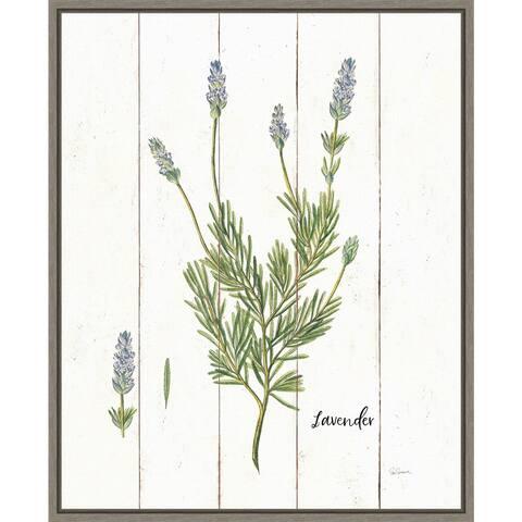 Cottage Herbs II by Sue Schlabach Framed Canvas Art