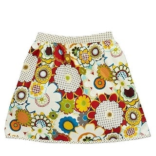 Girls Multi Color Floral Polka Dot Mixed Pattern Cotton Skirt 7-10