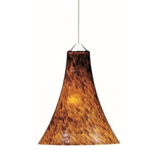 """ET2 E94433 1 Light 7"""" Wide RapidJack Pendant and Flush Mount Canopy from the Leopard Collection"""