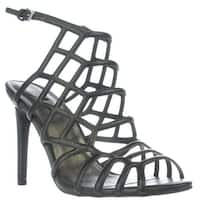 G by GUESS Berrit Honeycomb Caged Sandals, Black