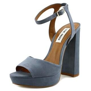 Steve Madden Brrit Women Open Toe Leather Blue Platform Heel