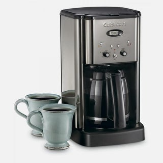 Cuisinart DCC-1200BCHFR Brew Central 12 Cup Programmable Coffeemaker, Brushed Chrome, Certified Refurbished