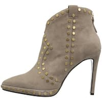 Lola Cruz Womens 113z30bk Suede Pointed Toe Ankle Fashion Boots - 8.5