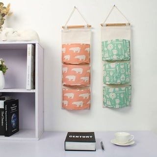 Cotton Linen Door Closet Foldable Hanging Storage Bag Home Organizer Toy Storage