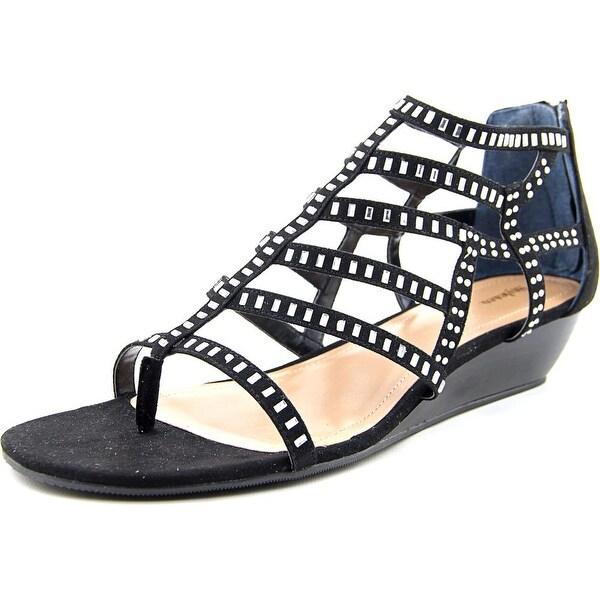 Style & Co Bradey Women Open Toe Synthetic Black Wedge Sandal