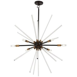 "Kovacs P1793-416 Spiked 6 Light 30-1/2"" Wide Sputnik Chandelier with Clear Glass"