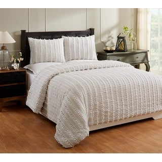 Shop For Better Trends Athenia Collection In Polka Dot Design 100 Cotton Tufted Chenille Comforter Get Free Delivery On Everything At Overstock Your Online Fashion Bedding Store Get 5 In Rewards With Club O 25762271