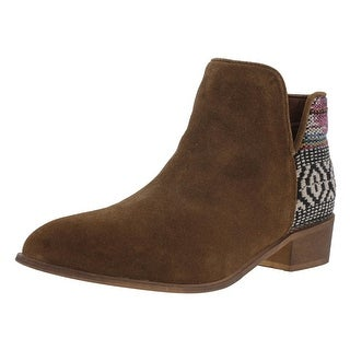 Steve Madden Womens Arley Booties Suede Knit