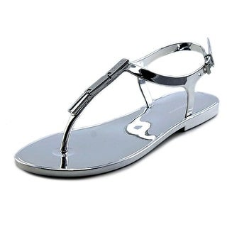 BCBGeneration Strazz Women Open Toe Synthetic Silver Thong Sandal