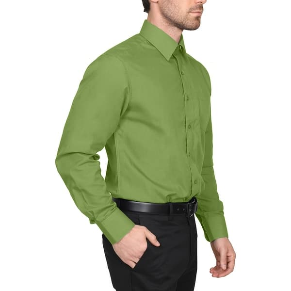 Men/'s Business Shirt Button Front Long sleeve Slim Fit Solid Color Blouses New