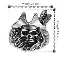 Vienna Jewelry Dead Cowboy Stainless Steel Ring - Thumbnail 1