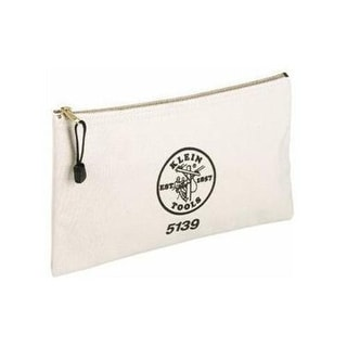 "Klein Tools 5139 Canvas Zipper Bag, 12-1/2""x7"""
