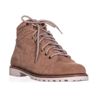 Coach Ester Embossed High Top Sneakers, Warm Blush