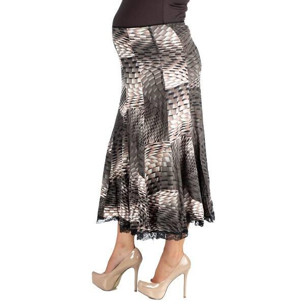 faeaaa017b Shop 24seven Comfort Apparel Midi Maternity Skirt - Free Shipping On ...
