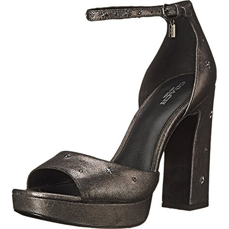 Coach Womens MARGHARITA STAR MET SUEDE Open Toe Special Occasion Ankle Strap ...