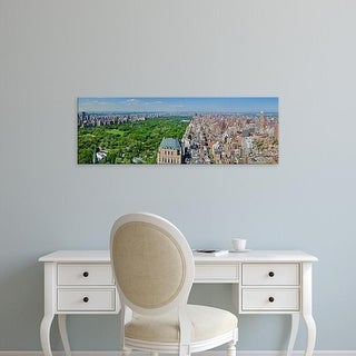 Easy Art Prints Panoramic Image 'Aerial view of a city, Central Park, Manhattan, New York City, New York' Canvas Art