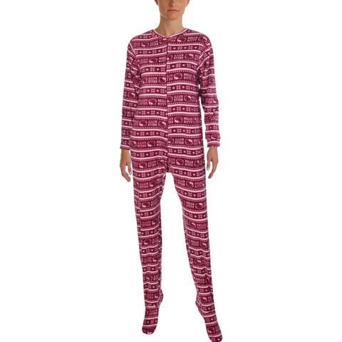 e6986ff20 Hello Kitty Womens Lovely Dreamer Footed Pajamas Polar Fleece Jumper