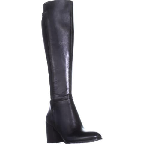 Marc Fisher Womens Lacole Leather Closed Toe Knee High Fashion Boots