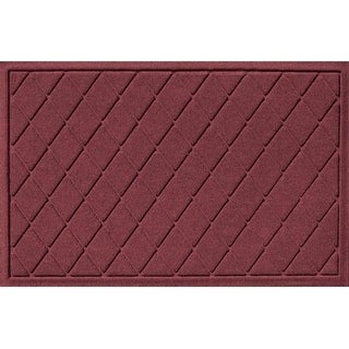 20377600023 Water Guard Argyle Mat in Bordeaux - 2 ft. x 3 ft.