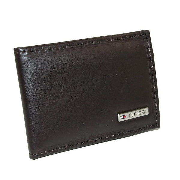 Tommy Hilfiger Men's Leather Front Pocket Wallet with Money Clip - One size
