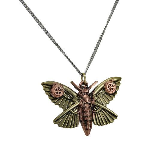 Anne Stokes Engineerium Magradores Moth Steampunk Pendant - 1.25 X 2 X .15 inches