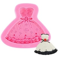 Ny Cake Pink Silicone Mold-Dress