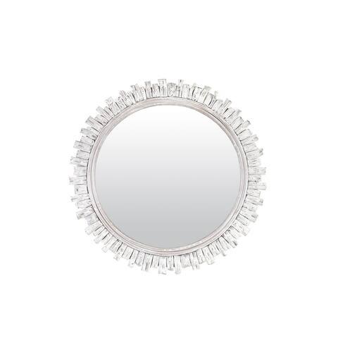 "East at Main 35"" Round Plaka Mirror"