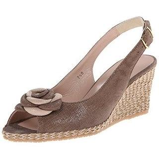 Sesto Meucci Womens Rosette Peep Toe Wedge Heels - 6 medium (b,m)