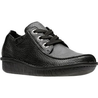 Clarks Women's Funny Dream Lace Up Shoe Black Leather