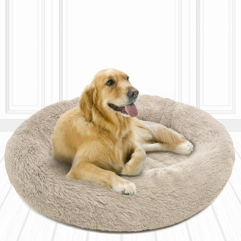 Friends Forever Coco Faux Fur Self Warming Indoor Round Donut Cuddler