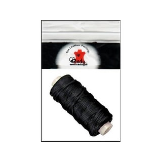 LF Braided Cord Waxed 25yd Black
