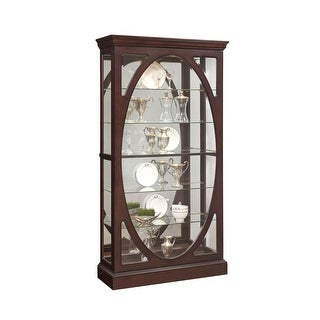 "Delacora HM-P021569 43"" Wide Hardwood Curio with LED Lighting - Sable - N/A"