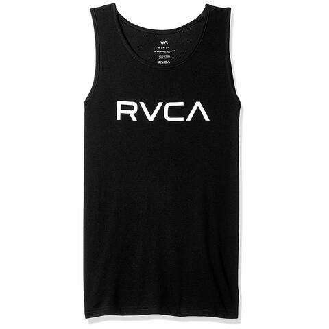 RVCA Men's Big Tank TOP, Black, Small, Black, Size Small