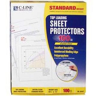 "Clear - Top Loading Sheet Protectors 8.5""X11"" 100/Pkg"