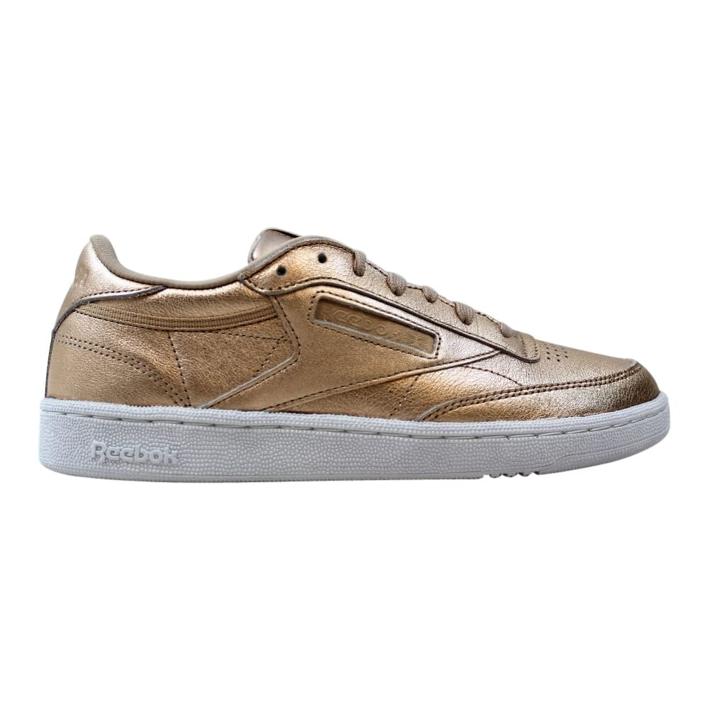 Details about Reebok BS7898 Men Classic leather METALLIC Running shoes gold white Sneakers