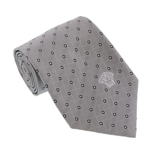 Versace Light Grey Woven Abstract Tie