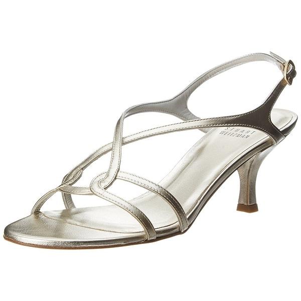 Stuart Weitzman NEW Gold Women's Shoes Size 6.5N Reversal Sandal