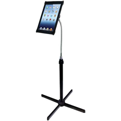 CTA Digital PADAFSb CTA Digital Height-Adjustable Gooseneck Floor Stand for iPad 2/3 (PAD-AFS)