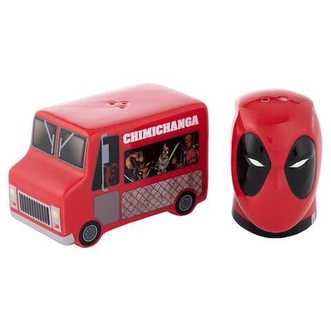 Marvel Deadpool & Food Truck Sculpted Ceramic Salt & Pepper Set