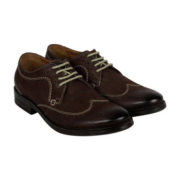 Clarks Delsin Wing Mens Brown Leather Casual Dress Lace Up Oxfords Shoes