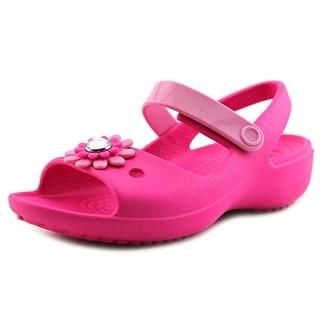 Crocs Keeley Mini Wedge Open-Toe Synthetic Mary Janes
