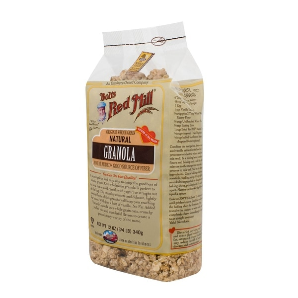 Bob's Red Mill Natural Whole Grain Granola - 12 oz - Case of 4